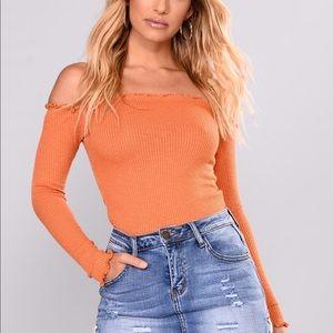 Smock It To Me Top - Fashion Nova Orange NWOT